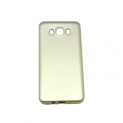 Samsung Galaxy J7 2016 Θήκη Σιλικόνης Χρυσή Silicone Case Ultra Chrome Gold