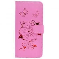 Samsung Galaxy Core Prime Θήκη Βιβλίο Ροζ Με Λουλούδια Book Case