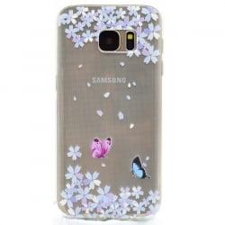 Samsung Galaxy S7 Edge Θήκη Σιλικόνης Μικρές Πεταλούδες Silicone Case