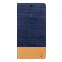 Huawei P9 Lite Θήκη Βιβλίο Σκούρο Μπλέ Canvas Book Case Telone Dark Blue