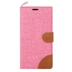 Samsung Galaxy J3 / J3 2016 Θήκη Βιβλίο Ροζ Canvas Book Case Telone Pink