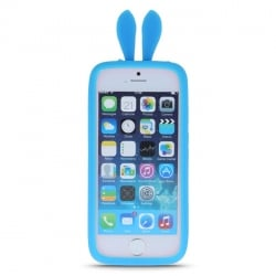 Samsung Galaxy S3 / S3 Neo Silicone 3D Case Rabbit Ears Blue