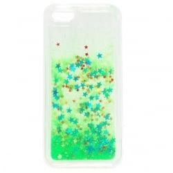 iPhone 4 / 4s Θήκη Σιλικόνης Με Κινούμενη Χρυσόσκονη Πράσινη Silicone Case Liquid Glitter Green