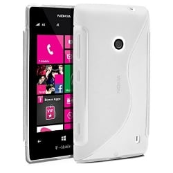 Lumia 520 Θήκη Διάφανη Silicone S Case Transparent
