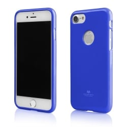 iPhone 7 Θήκη Σιλικόνης Μπλέ Goospery Silicone Jelly Case Blue