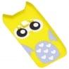 Samsung Galaxy J3 / J3 2016 3D Θήκη Σιλικόνης Κουκουβάγια Κίτρινη Silicone Case Owl Yellow