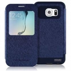 Samsung Galaxy S6 Edge Plus Θήκη Βιβλίο Μπλέ Goospery Book Case WOW Bumper View Navy