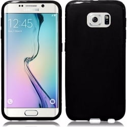 Samsung Galaxy S6 Edge Plus Θήκη Σιλικόνης Μαύρη Ultra Shine Silicone Case Black