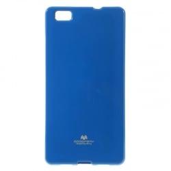 Huawei P8 Lite Goospery Jelly Case Θήκη Σιλικόνης Μπλε Silicone Case Blue