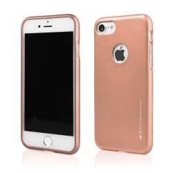 iPhone 7 Θήκη Σιλικόνης Ροζ Χρυσή Goospery Silicone iJelly Case Pink Gold