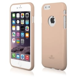 iPhone 7 Θήκη Σιλικόνης Χρυσή Goospery Silicone Jelly Case Gold