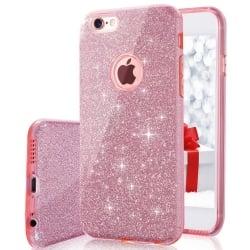 iPhone 7 Θήκη Σιλικόνης Glitter Remax Ροζ Silicone Case Glitter Pink