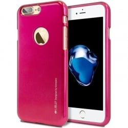 iPhone 7 Plus Goospery iJelly Case Θήκη Σιλικόνης Φούξια Silicone Case Hot pink
