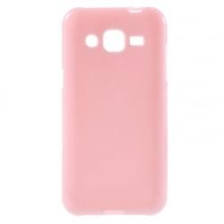 Samsung Galaxy J3 / J3 2016 Θήκη Σιλικόνης Ροζ Ultra Shine Silicone Case Pink