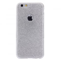 iPhone 6 Plus / 6s Plus Θήκη Σιλικόνης Ασημί Silicone Case With Glitter Silver