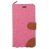 Samsung Galaxy S6 Edge Θήκη Βιβλίο Ροζ Canvas Book Case Telone Pink