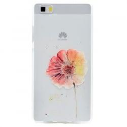 Huawei P8 Lite Θήκη Σιλικόνης Ανθισμένο Λουλούδι Silicone Case
