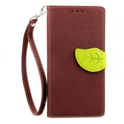 Huawei P8 Lite Δερμάτινη Θήκη Βιβλίο Καφέ Magnetic Snap Leather Book Case Brown