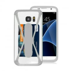 3,5'' - 5,0''  Universal Θήκη Σιλικόνης Λευκή Με Stand Bumper Silicone Case White