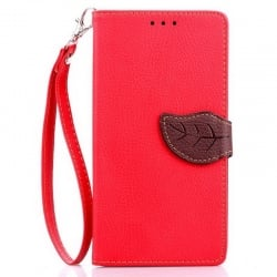 LG G4 Δερμάτινη Θήκη Βιβλίο Κόκκινο Magnetic Snap Leather Book Case Red