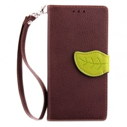Samsung Galaxy A3 2015 Δερμάτινη Θήκη Βιβλίο Καφέ Magnetic Snap Leather Book Case Brown
