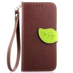 LG G3 Mini Δερμάτινη Θήκη Βιβλίο Καφέ Magnetic Snap Leather Book Case Brown