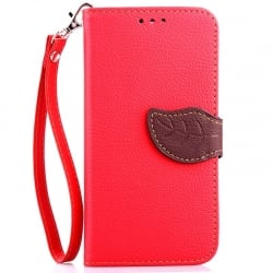 Samsung Galaxy S6 Δερμάτινη Θήκη Βιβλίο Κόκκινο Magnetic Snap Leather Book Case Red
