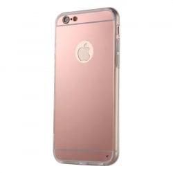 iPhone 6 Plus / 6s Plus Θήκη Σιλικόνης Καθρέφτης Ροζ Silicone Case Mirror Pink