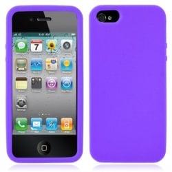 iPhone 5 / 5s Θήκη Σιλικόνης Μωβ TPU Silicone Case Purple