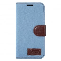Samsung Galaxy S7 Edge Θήκη Βιβλίο Μπλέ Canvas Book Case Telone Blue