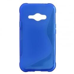 Samsung Galaxy J1 (J100) 2015 Θήκη Σιλικόνης Μπλέ Silicone S Case Blue