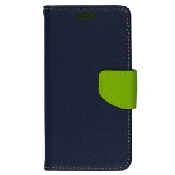 Sony Xperia E4g Θήκη Βιβλίο Μπλέ - Λαχανί Fancy Book Case Telone Navy - Lime
