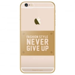 iPhone 6 / 6s Θήκη Σιλικόνης Διάφανη / Χρυσή Never Give Up Baseus Silicone Case Transparent / Gold