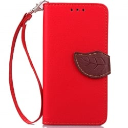 Samsung Galaxy J7 2015 Δερμάτινη Θήκη Βιβλίο Κόκκινο Fancy Magnetic Snap Leather Book Case Red