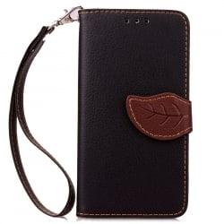 Samsung Galaxy J7 2015 Δερμάτινη Θήκη Βιβλίο Μαύρο Fancy Magnetic Snap Leather Book Case BlackSamsung Galaxy J7 2015 Δερμάτινη Θ