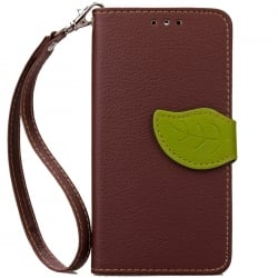 Samsung Galaxy J7 2015 Δερμάτινη Θήκη Βιβλίο Καφέ Magnetic Snap Leather Fancy Book Case Brown
