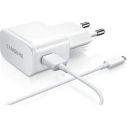 Original Φορτιστής Samsung 5V - 2A micro USB Cable & Wall Adapter Λευκό EP-TA12EWE+ECB-DU4AWE Bulk