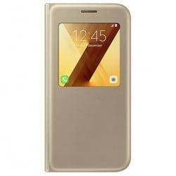 Samsung Galaxy A5 2017 Original S-View Cover A520F EF-CA520PFE Gold Γνήσια Θήκη Χρυσή