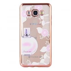 Samsung Galaxy J7 2016 Θήκη Σιλικόνης Με Ροζ - Χρυσό Περίγραμμα Γλυκό Άρωμα Silicone Case