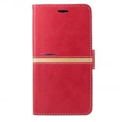 Samsung Galaxy J5 2016 Θήκη Βιβλίο Κόκκινο Gold Line Book Case Red