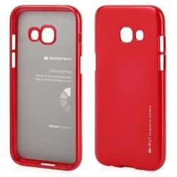 Samsung Galaxy A5 2017 Goospery iJelly Case Θήκη Σιλικόνης Κόκκινη Silicone Case Red