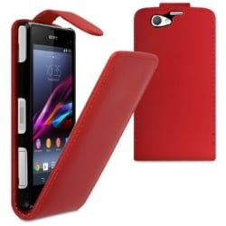 Sony Xperia Z1 Mini Θήκη Βιβλίο Κόκκινο Flip Book Case Red