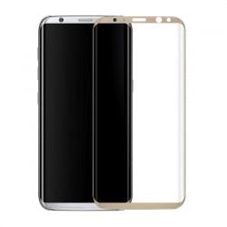Samsung Galaxy S8+ Plus Εμπρός και Πλάγια 3D HD Anti-Fingerprint Full Screen 9H Χρυσό Προστατευτικό Τζαμάκι Tempered Glass Gold