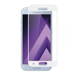 Samsung Galaxy A5 2017 Εμπρός και Πλάγια Full Screen Λευκό Προστατευτικό Τζαμάκι Tempered Glass White