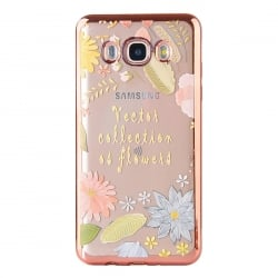 Samsung Galaxy J3 / J3 2016 Θήκη Σιλικόνης Μαγικά Λουλούδια Silicone Case