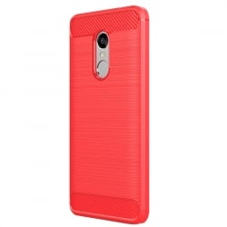 Xiaomi Redmi Note 4 Θήκη Σιλικόνης HAWEEL Brushed Carbon Fiber Κόκκινη Silicone Case