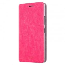 Xiaomi Redmi Note 4 Θήκη Βιβλίο Φούξια Mofi Leather Book Case Fuchsia
