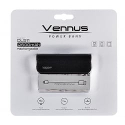 Power Bank Με Δέρμα VENNUS DL511 2600 mAh Black