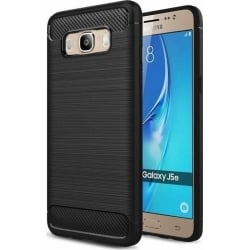 Samsung Galaxy J5 2016 Θήκη Σιλικόνης HAWEEL Brushed-2 Carbon Fiber Μαύρη Silicone Case Black