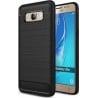 Samsung Galaxy J5 2016 Θήκη Σιλικόνης HAWEEL Brushed-2 Carbon Fiber Μαύρη Silicone Case Black